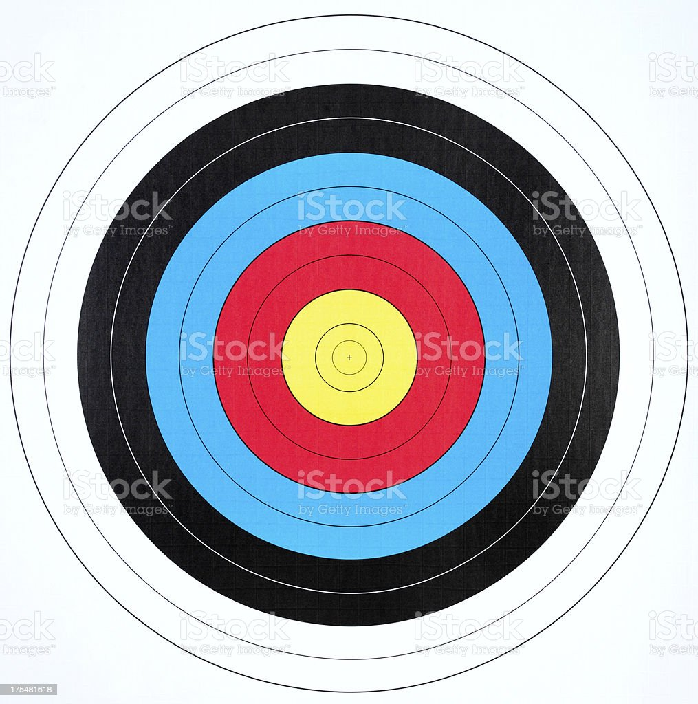 Archery Board royalty-free stock photo