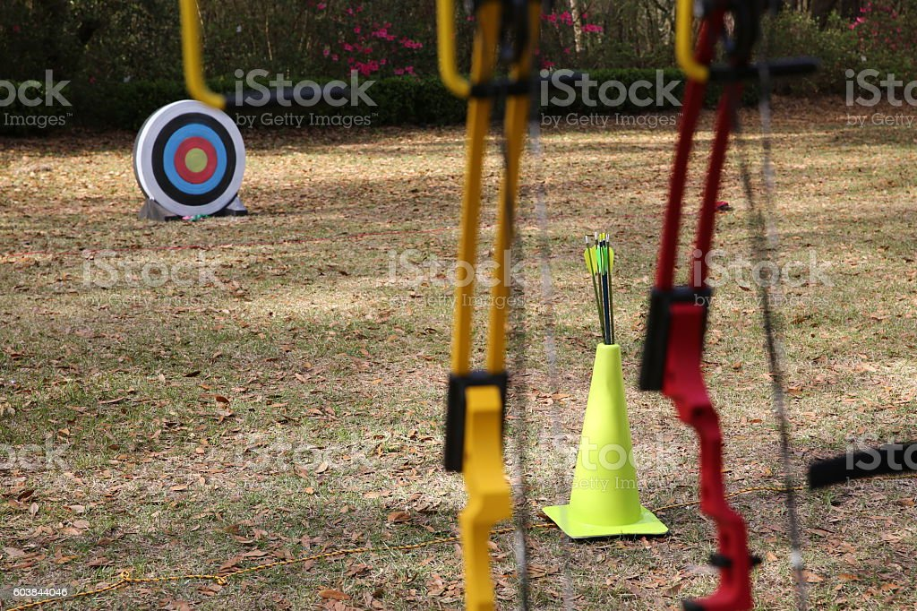 Archery Competition Lizenzfreies stock-foto