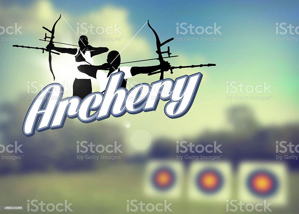 Archery poster stock photo