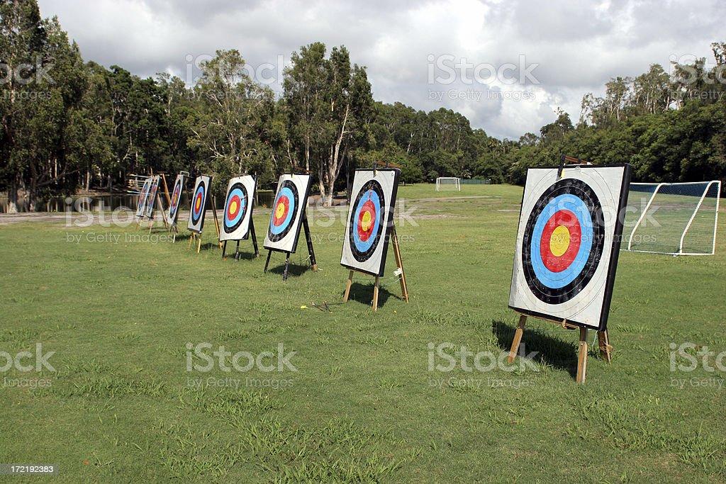 Archery Rows 1 royalty-free stock photo