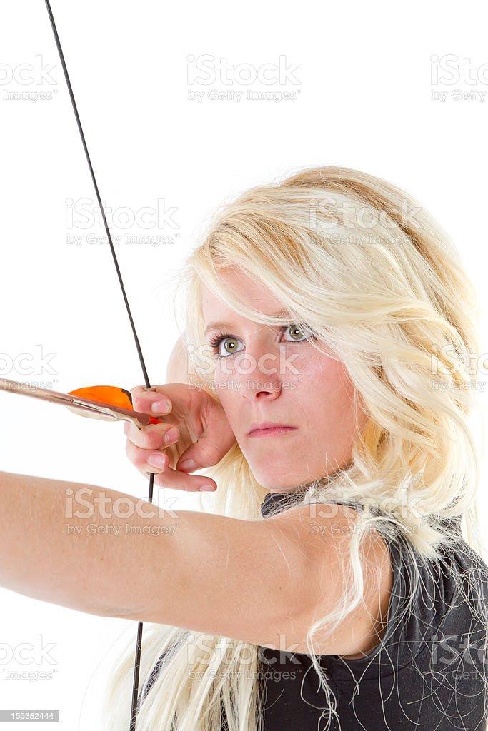 Archery shooting royalty-free stock photo