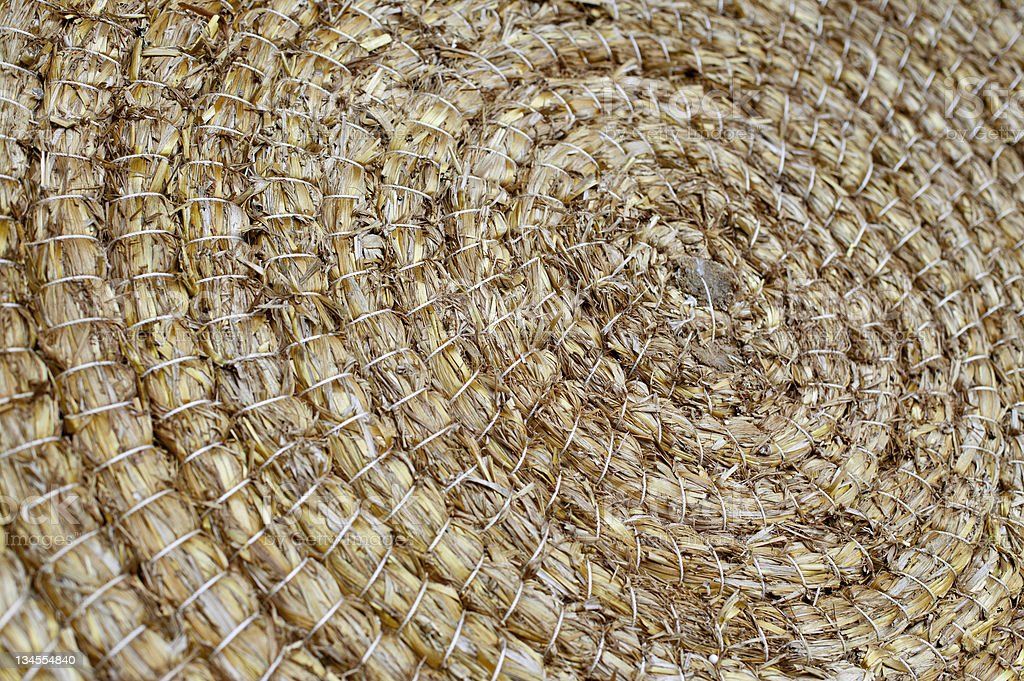 Archery target made of straw royalty-free stock photo