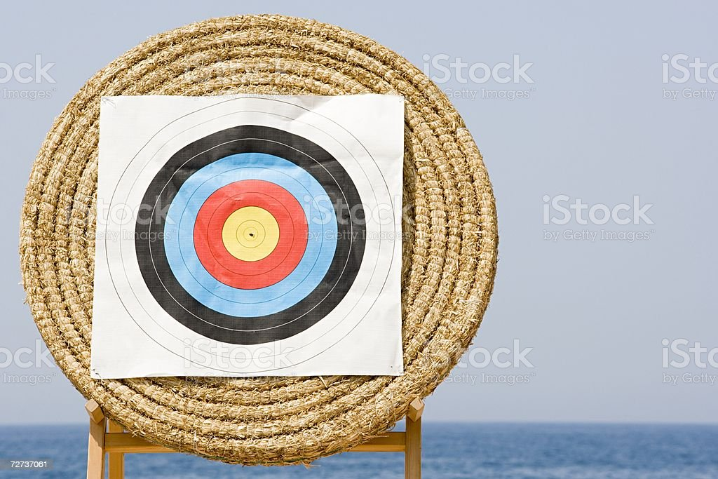 Archery target royalty-free stock photo