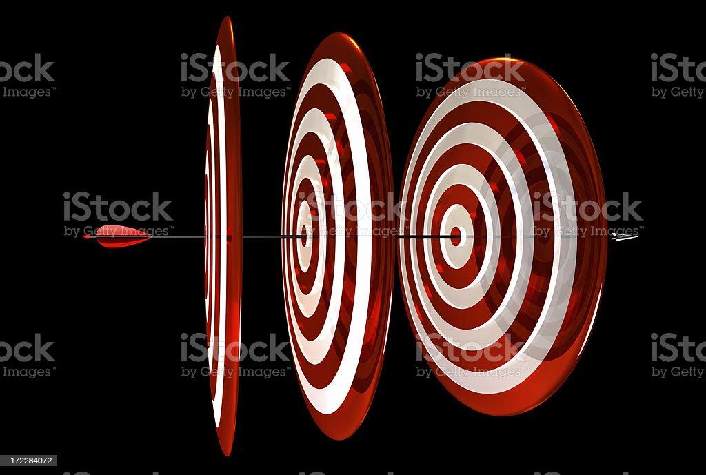 Archery Triple Center royalty-free stock photo