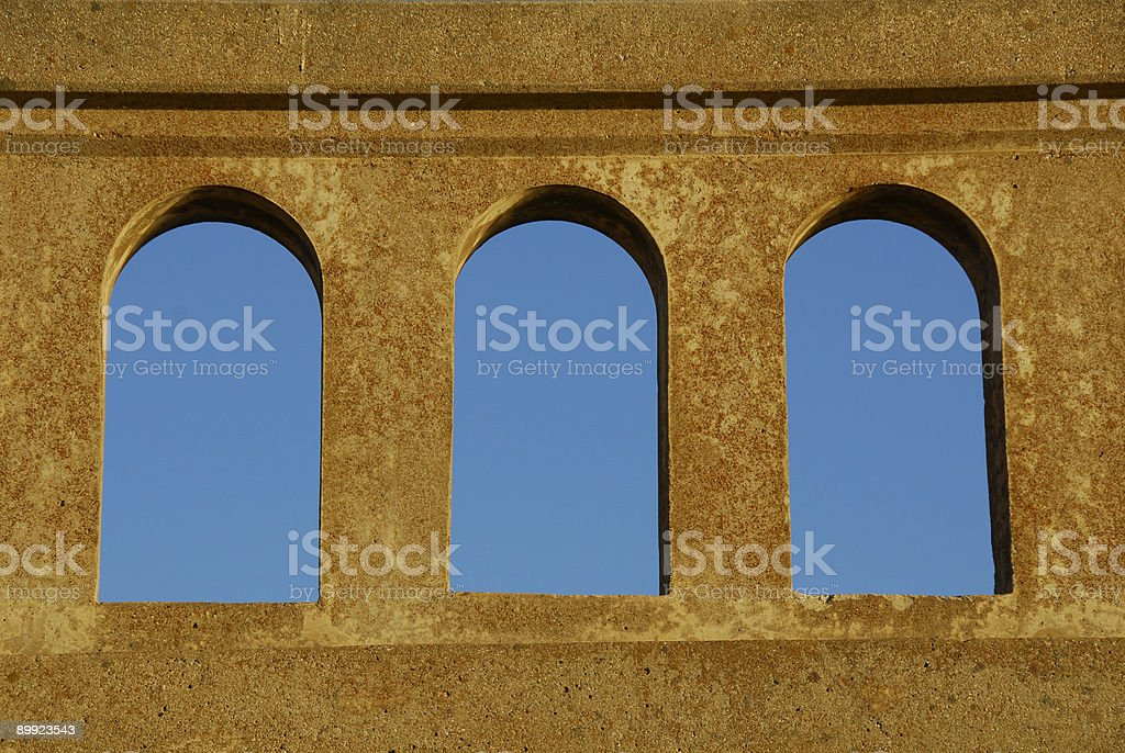 arches against the blue sky royalty-free stock photo