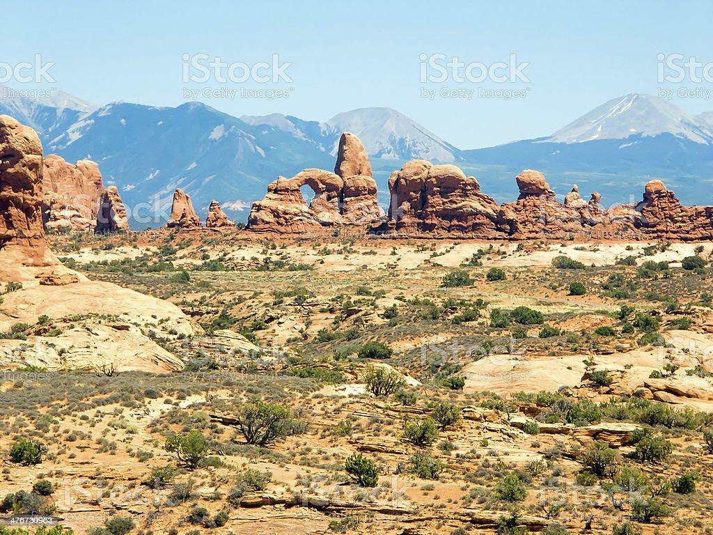 Archi e LaSal montagne foto stock royalty-free