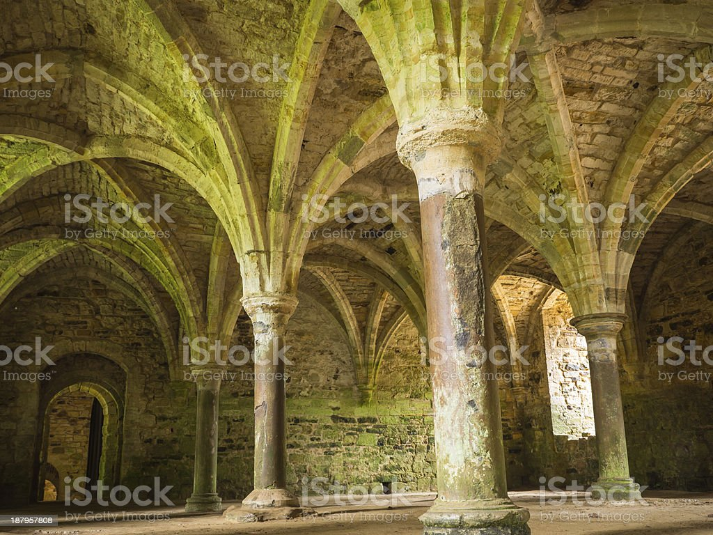 Arches at Battle Abbey Hastings stock photo