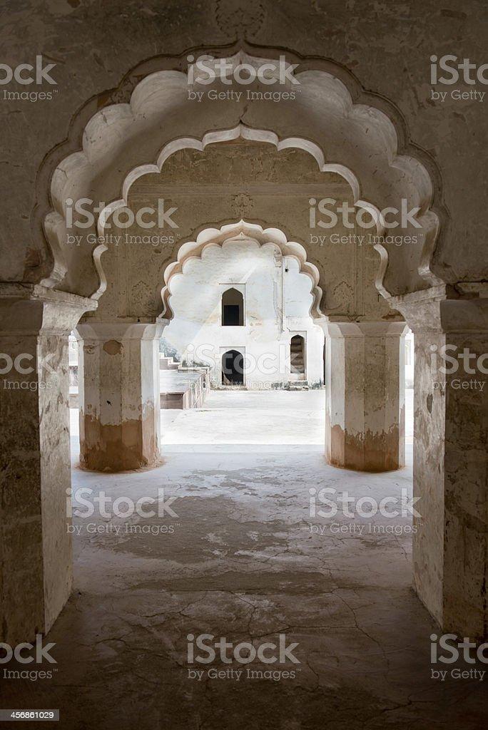 Arches at Raj Mahal stock photo