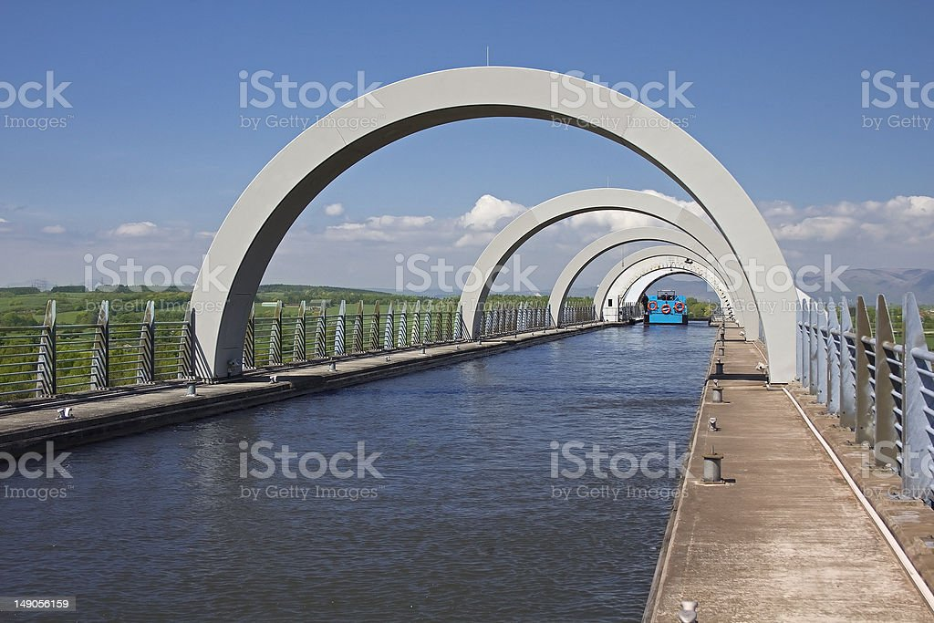 Arches at Top of Falkirk Wheel stock photo