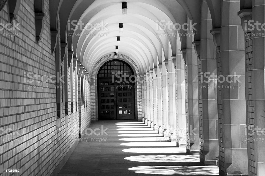 Arches at  U of T stock photo