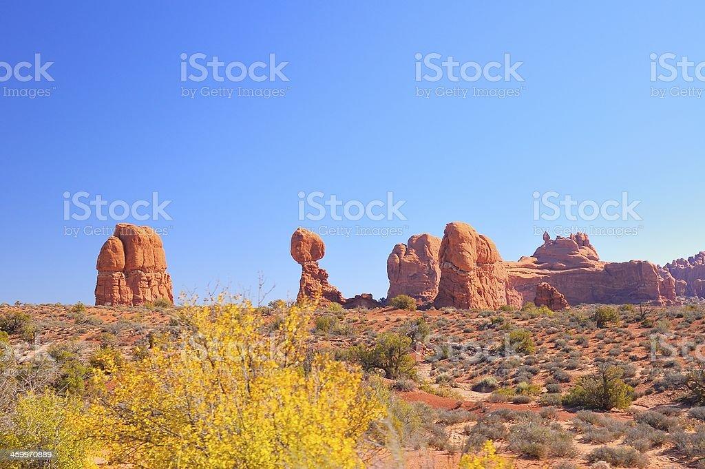 Arches Balanced Rock royalty-free stock photo