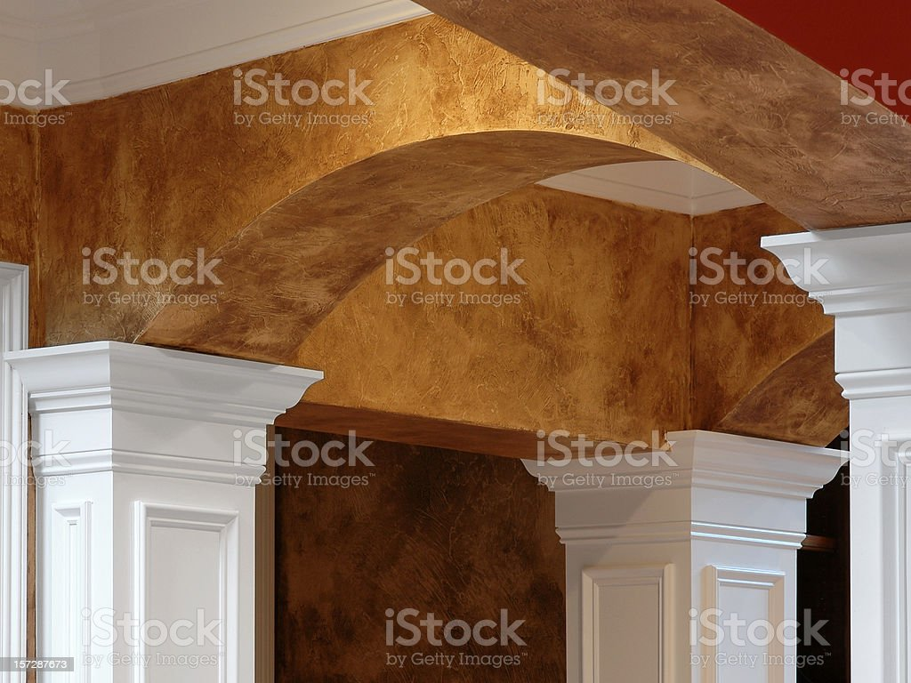 Arches Columns & Faux Finish royalty-free stock photo