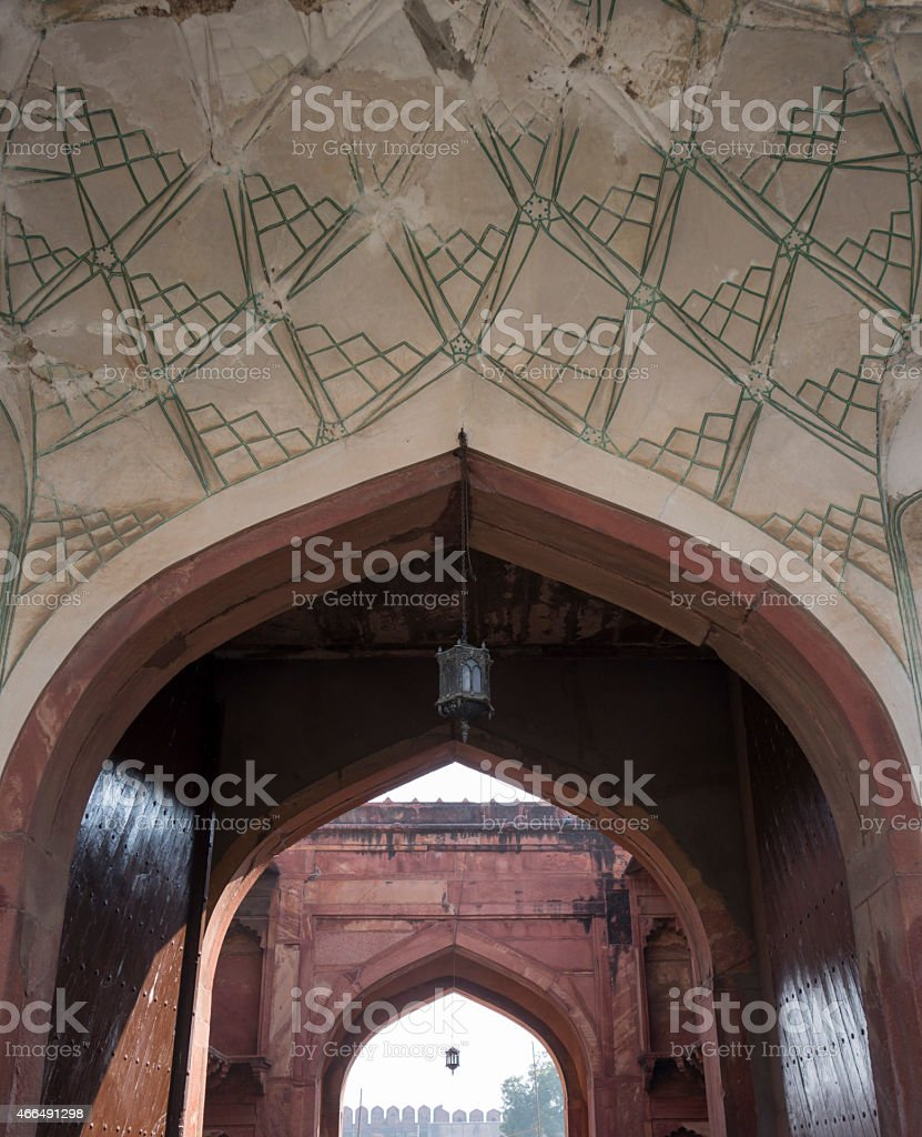 Arches in the Agra Fort stock photo