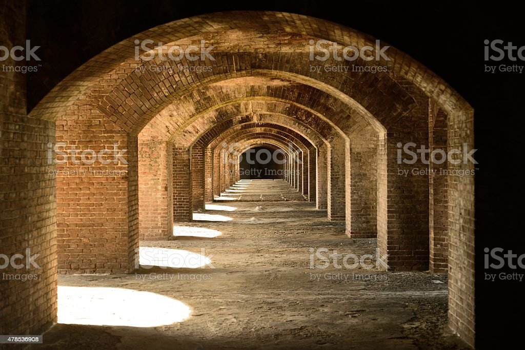 Arches in the sun stock photo