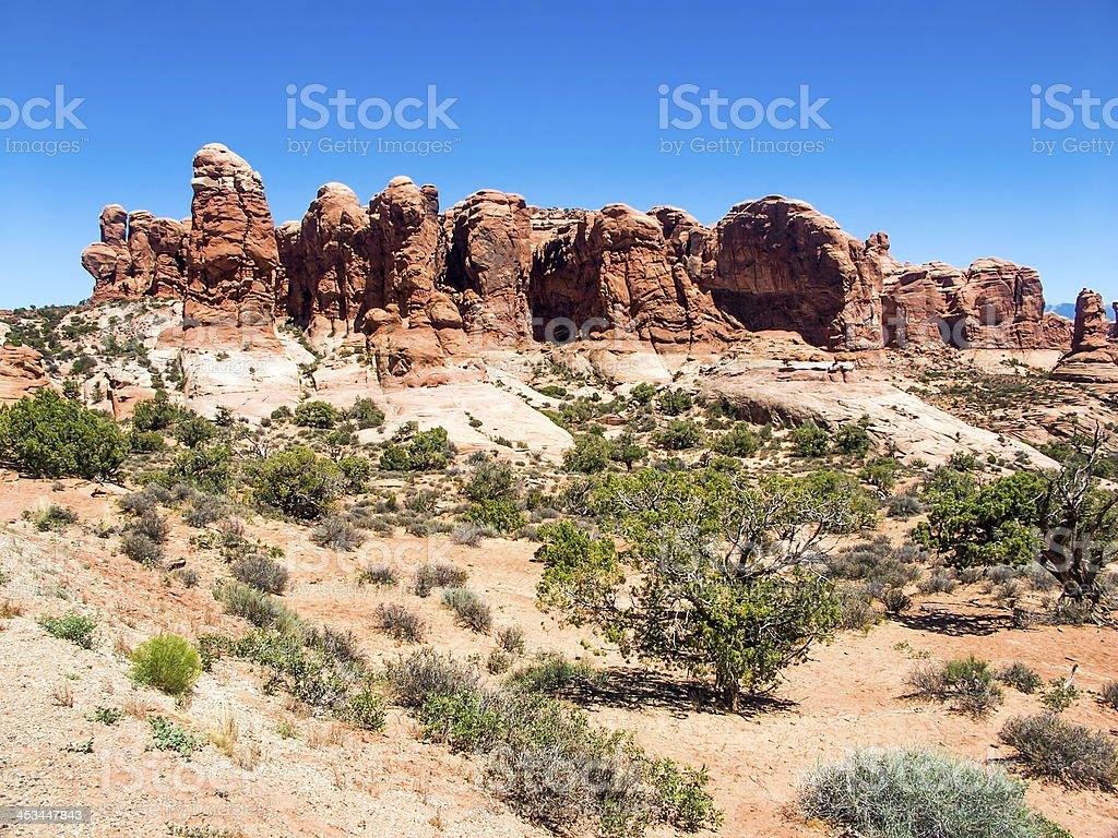 Paesaggio degli Archi foto stock royalty-free