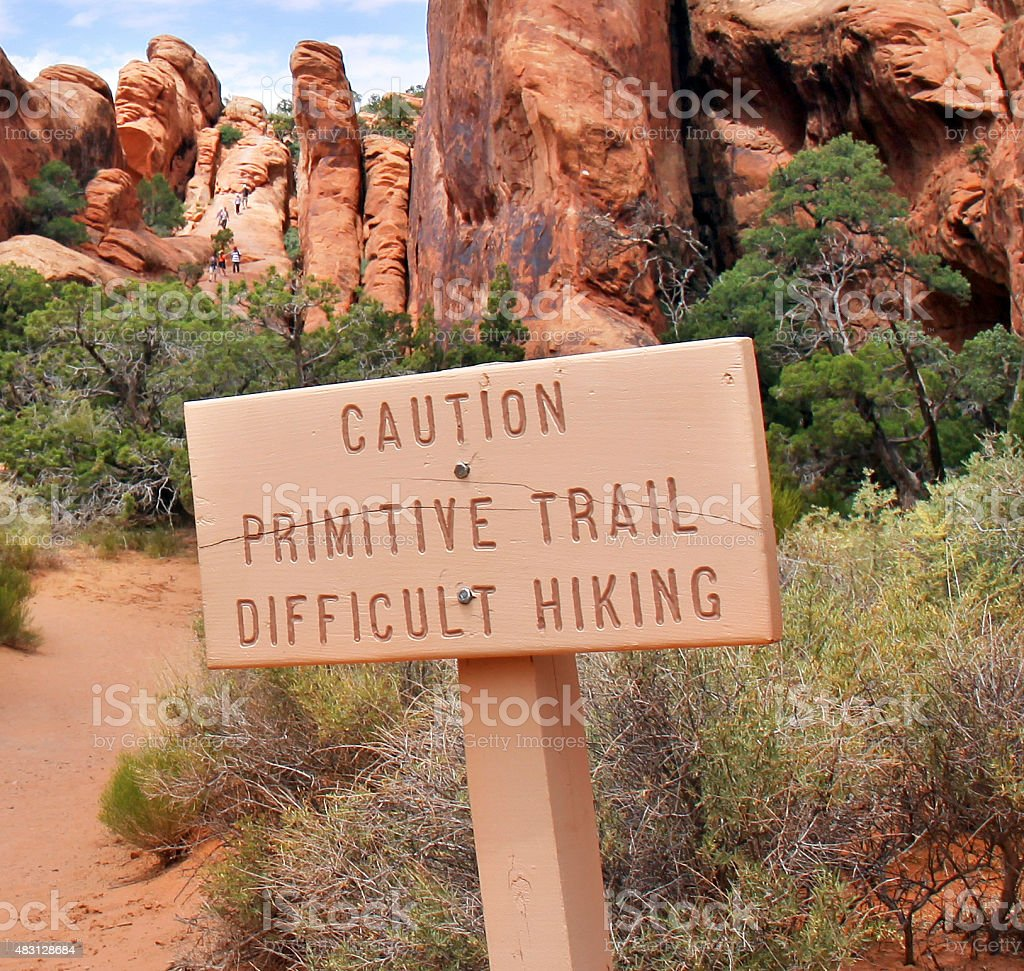 Arches National Park, at the entrance of Primitive Trail stock photo