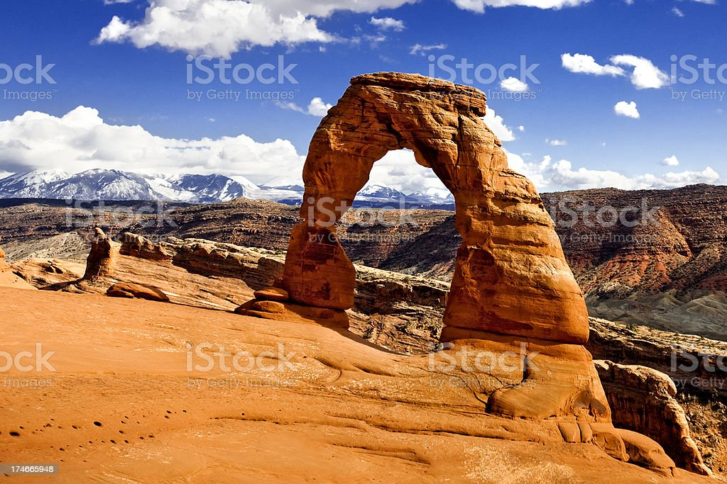 Arches National Park: Deilcate Arch stock photo