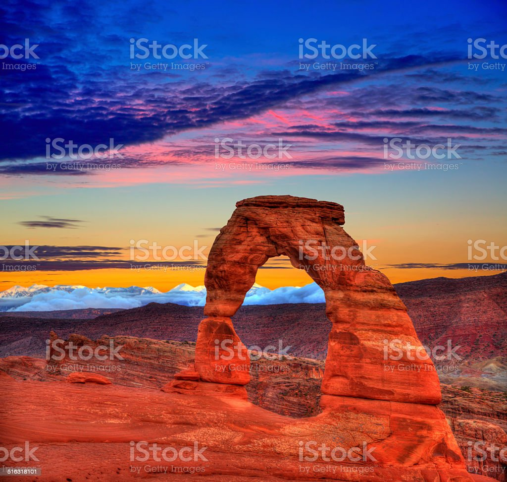 Arches National Park Delicate Arch in Utah USA stock photo