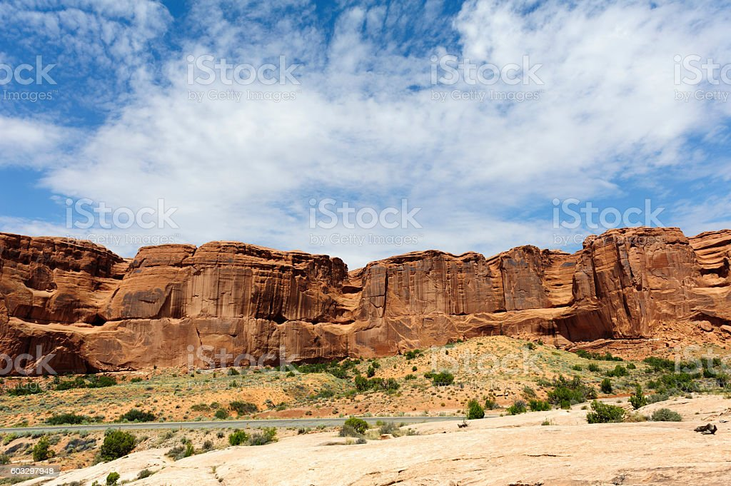 arches national park in the morning stock photo