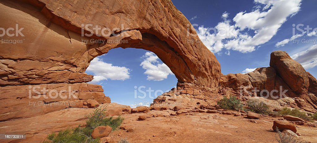 Arches National Park panoramic shot stock photo