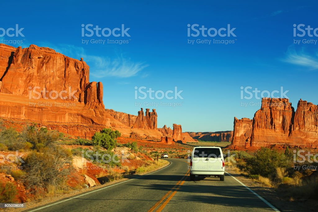 Arches National Park Scenic Drive stock photo