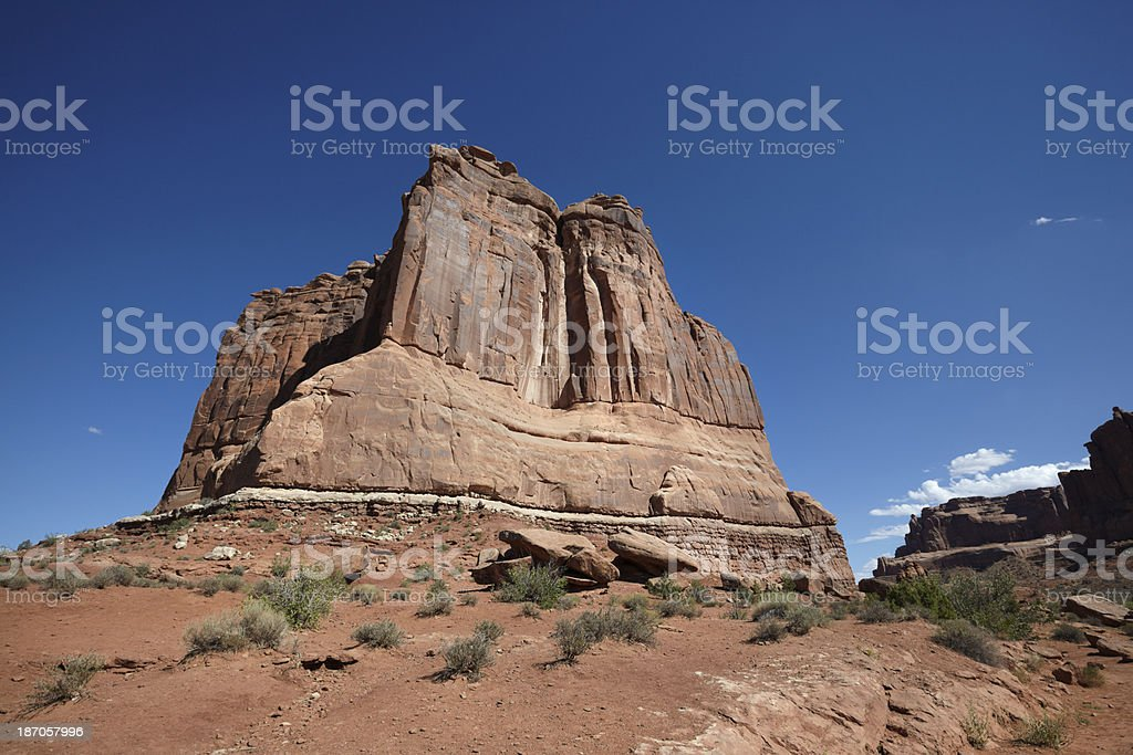Arches National Park : The Organ stock photo