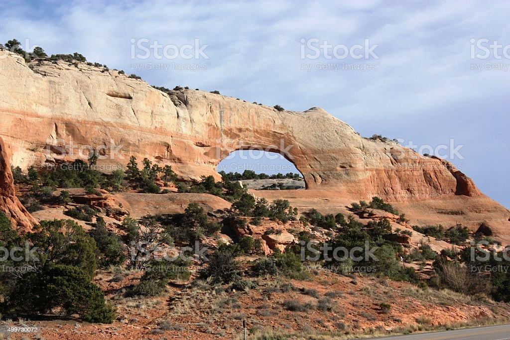 Arches National Park the Skyline Arch, Utah USA stock photo