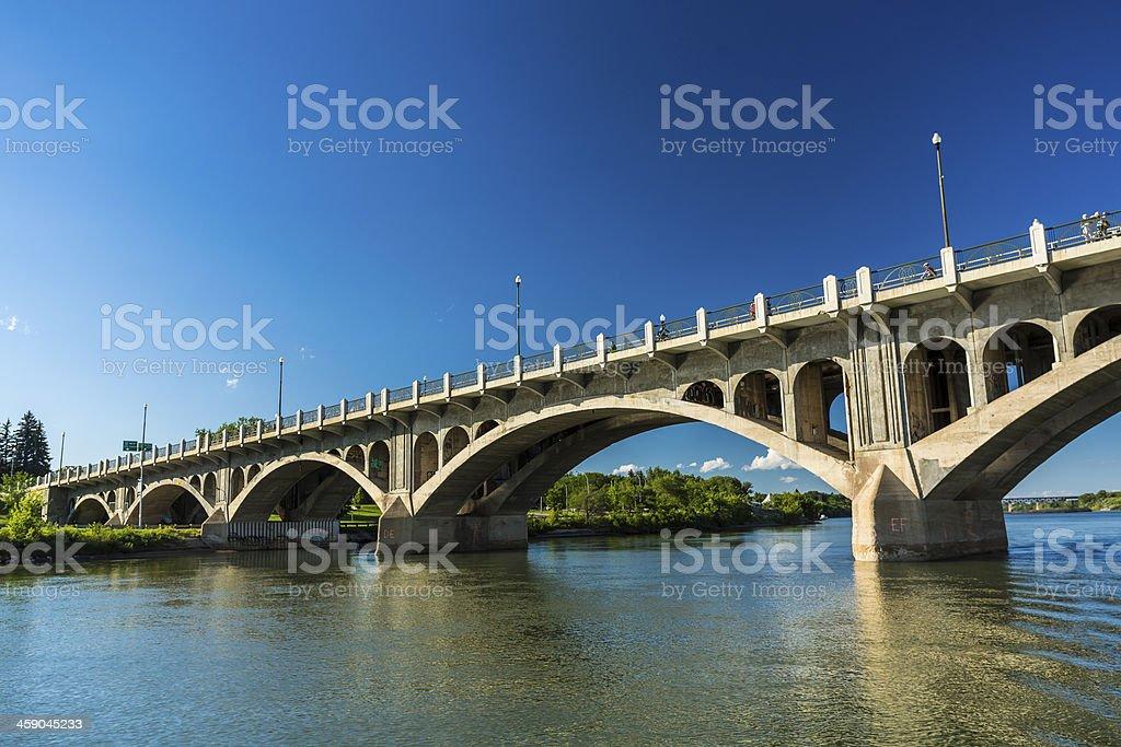 Arches of a Concrete Bridge stock photo