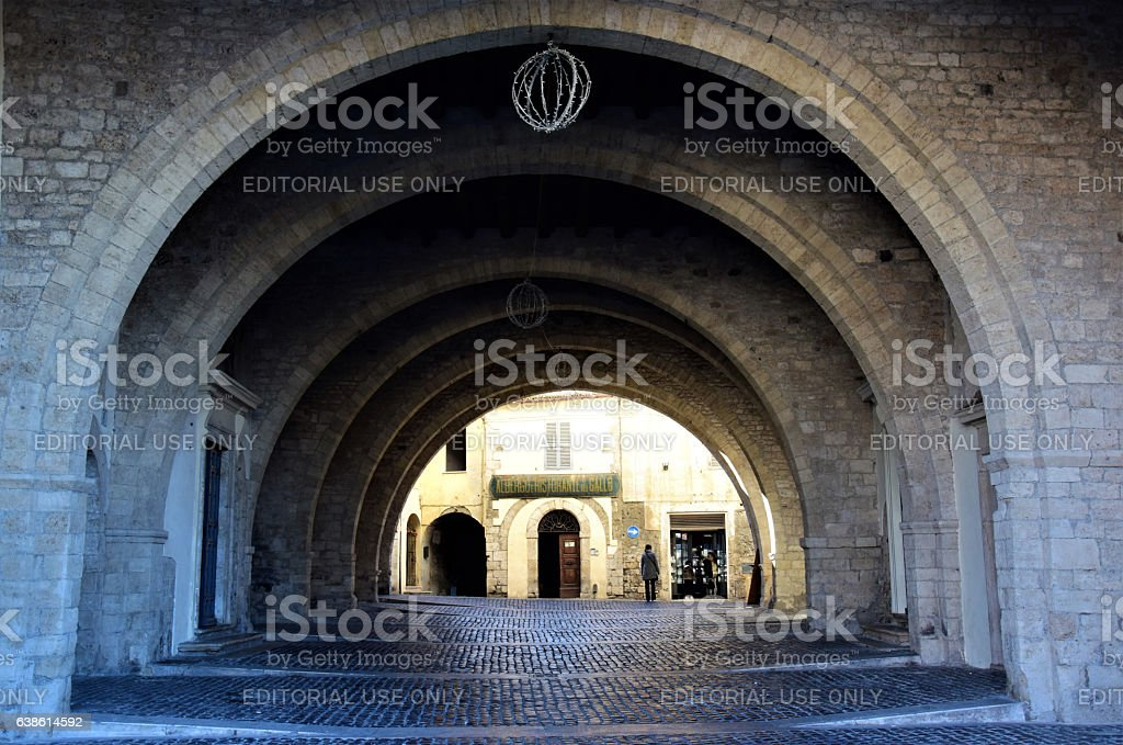 Arches of Anagni stock photo