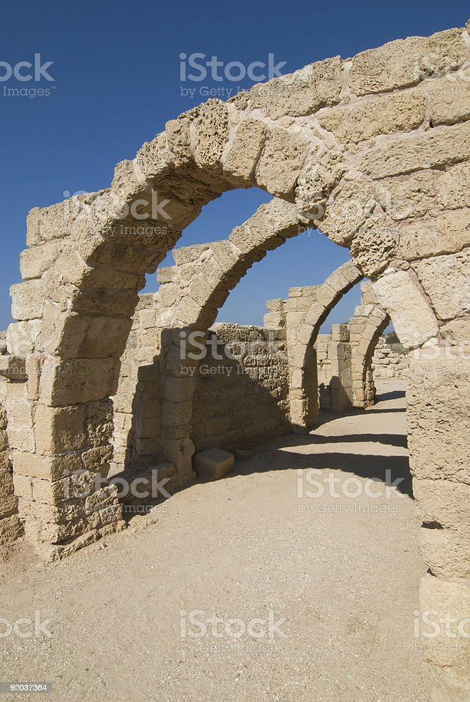 Arches of Ceaserea royalty-free stock photo