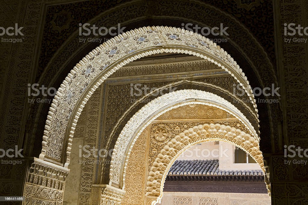 arches of entrance. Room Two Sisters stock photo