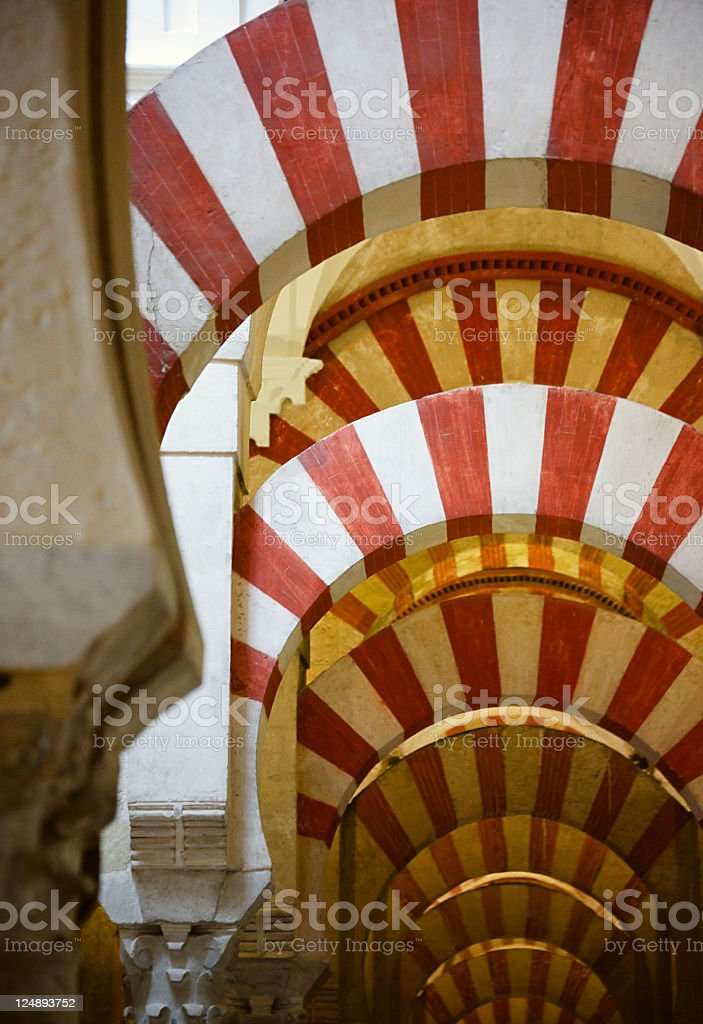 Arches of Mezquita in Cordoba royalty-free stock photo