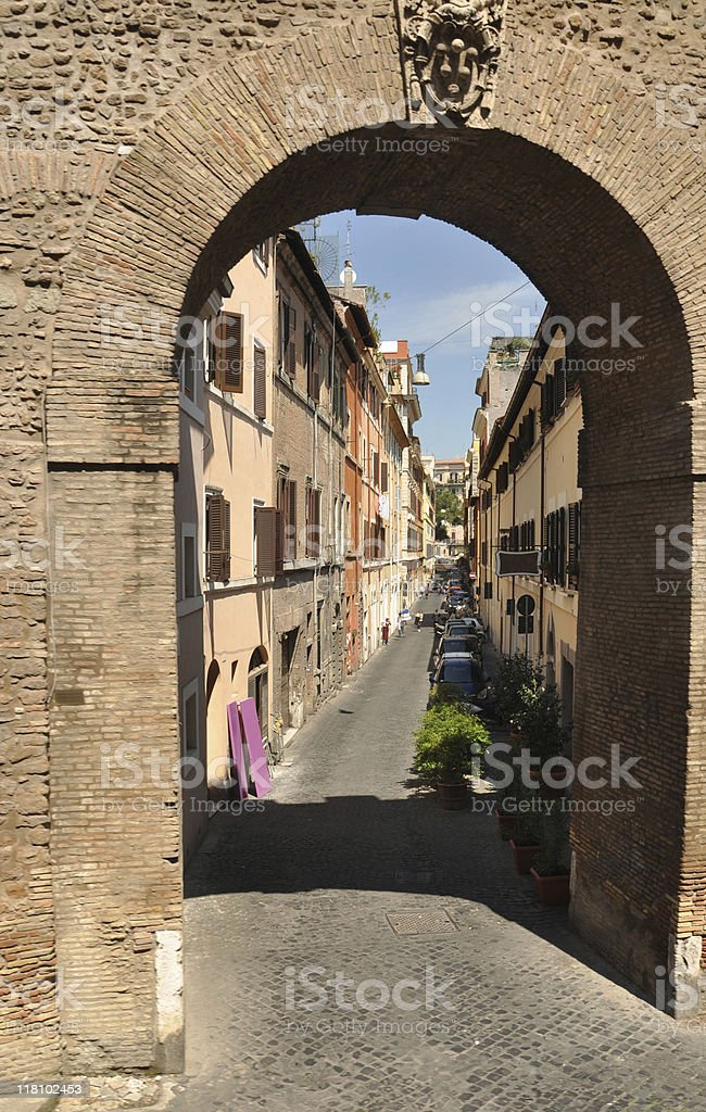 Arches of Rome stock photo
