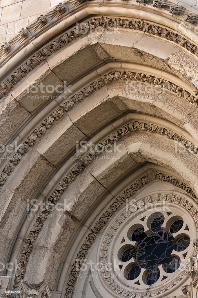 Arches of the Cathedral. stock photo