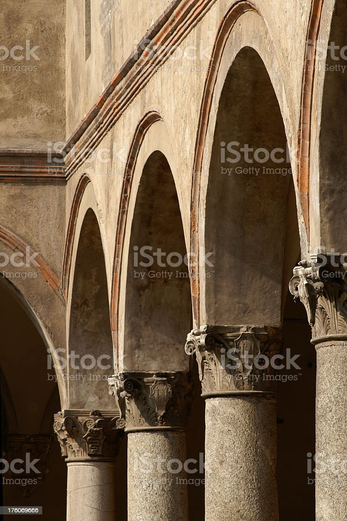 Arches Over Columns royalty-free stock photo