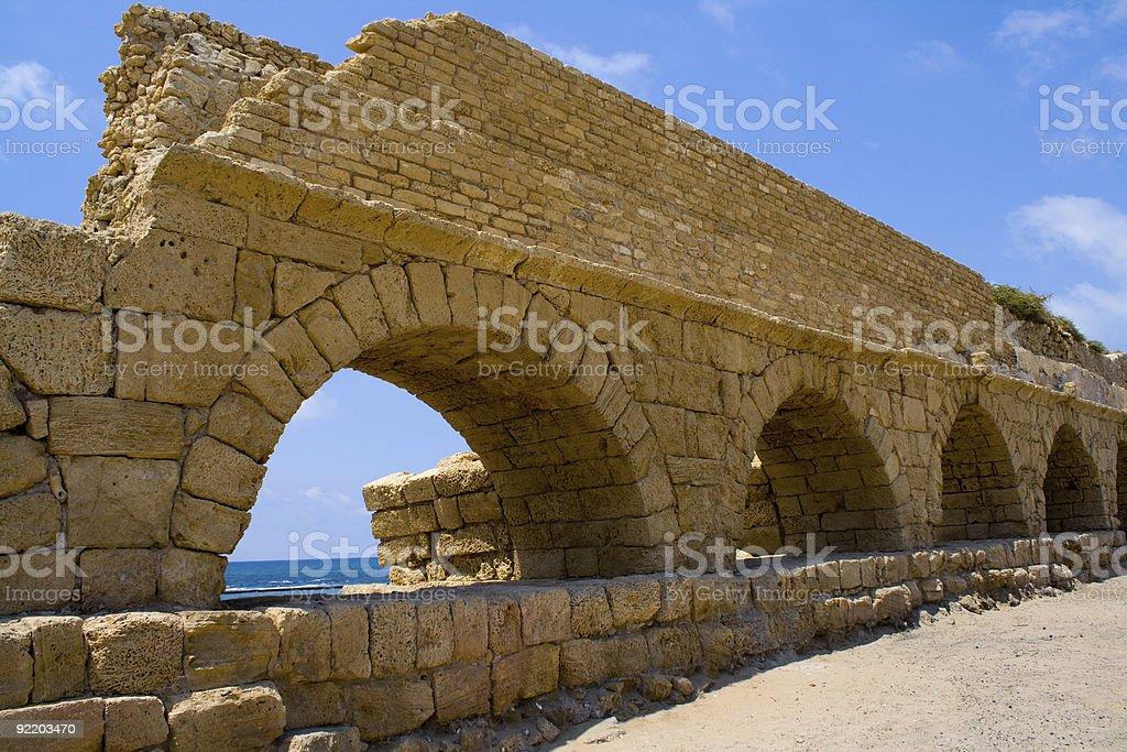 Arches - Roman Aqueduct royalty-free stock photo