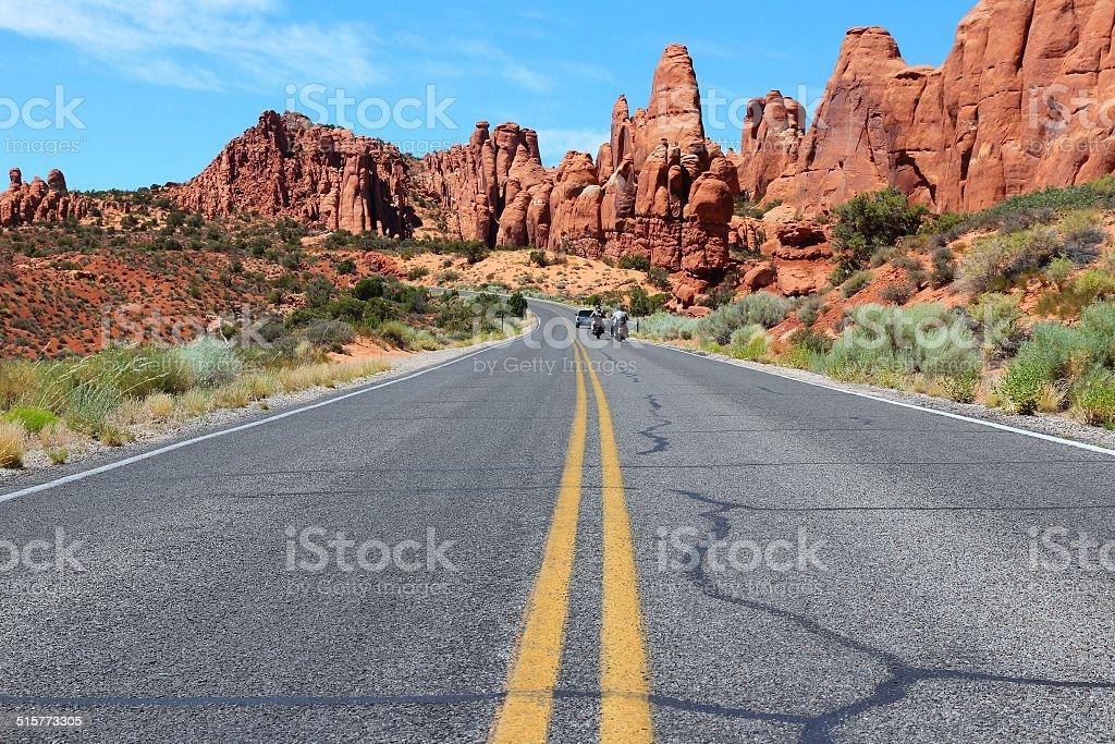 Arches Scenic Drive stock photo