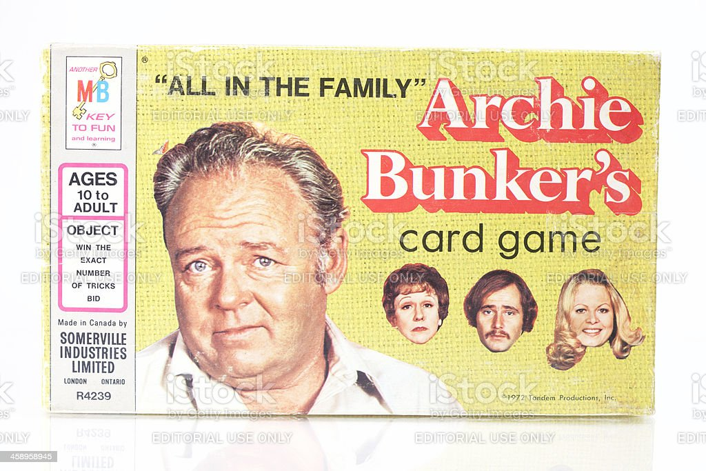 Archie Bunker's Card Game stock photo