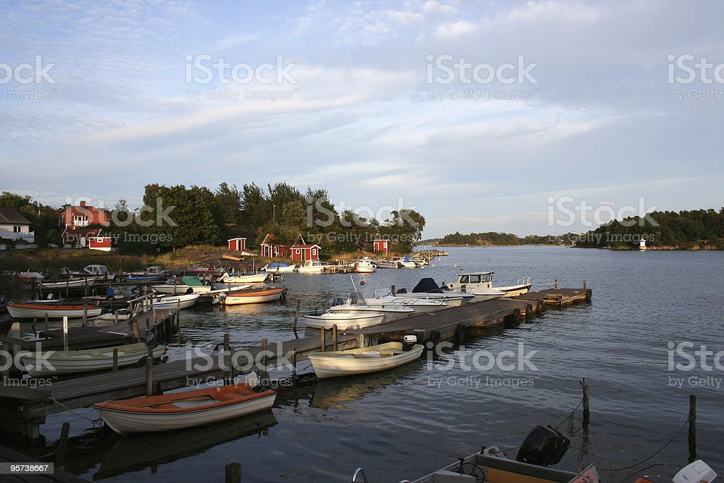 archipelago near stockholm royalty-free stock photo