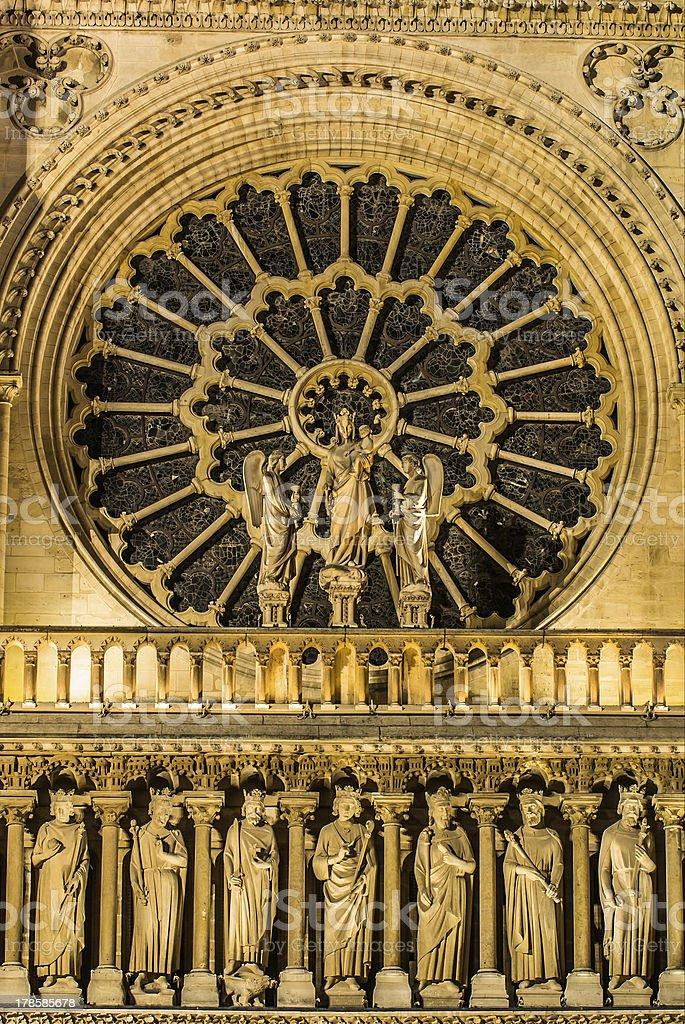 architechture detail notre dame de paris France stock photo