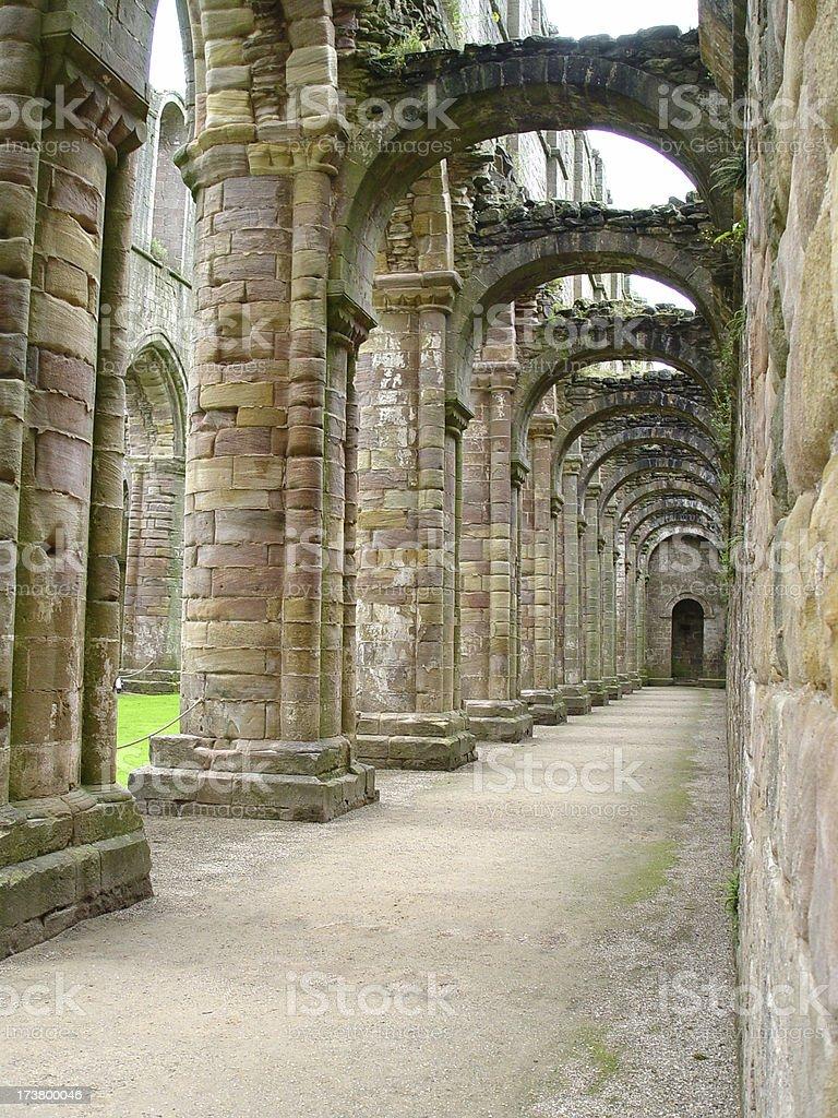 Architechure - Archs Built Circa 1100 royalty-free stock photo