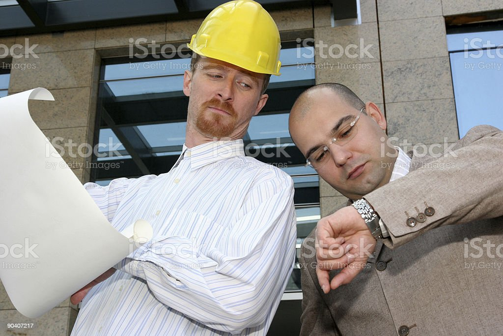 architect and businessman royalty-free stock photo