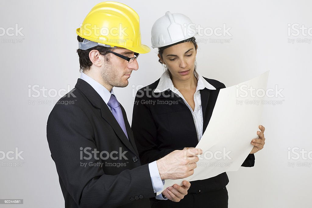 Architect and client looking on project royalty-free stock photo