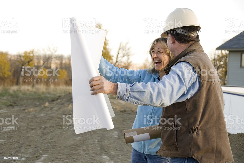 Architect and client royalty-free stock photo