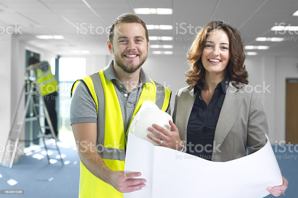 architect and contractor royalty-free stock photo
