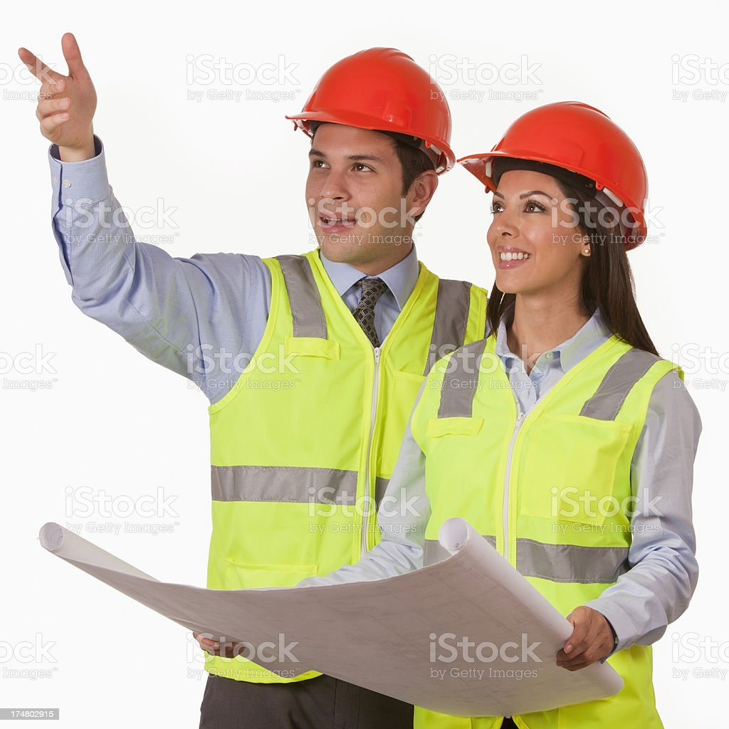 Architect and Engineer in a Conversation royalty-free stock photo