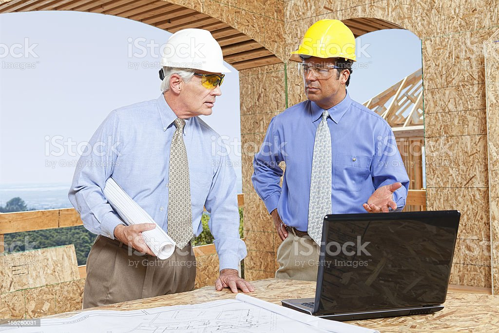 Architect and GC royalty-free stock photo