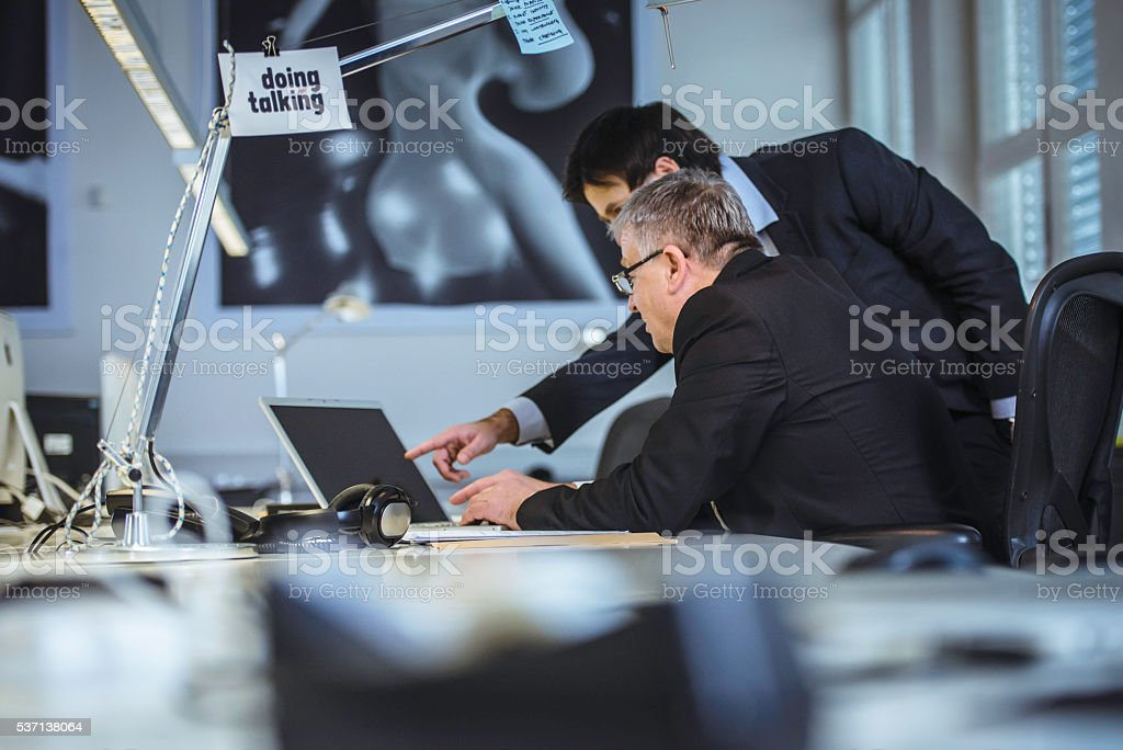 Architect and his client stock photo