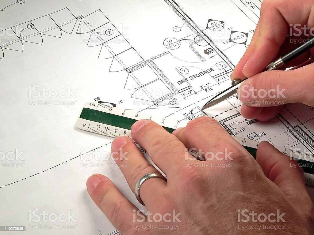 Architect at Work royalty-free stock photo