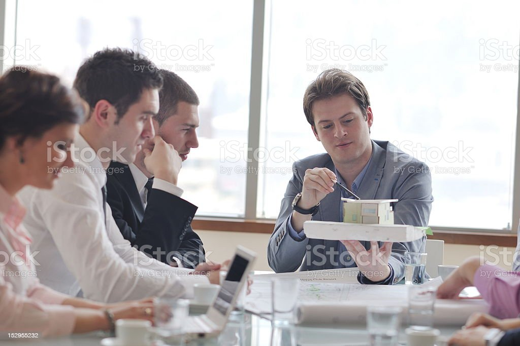 architect business team on meeting royalty-free stock photo